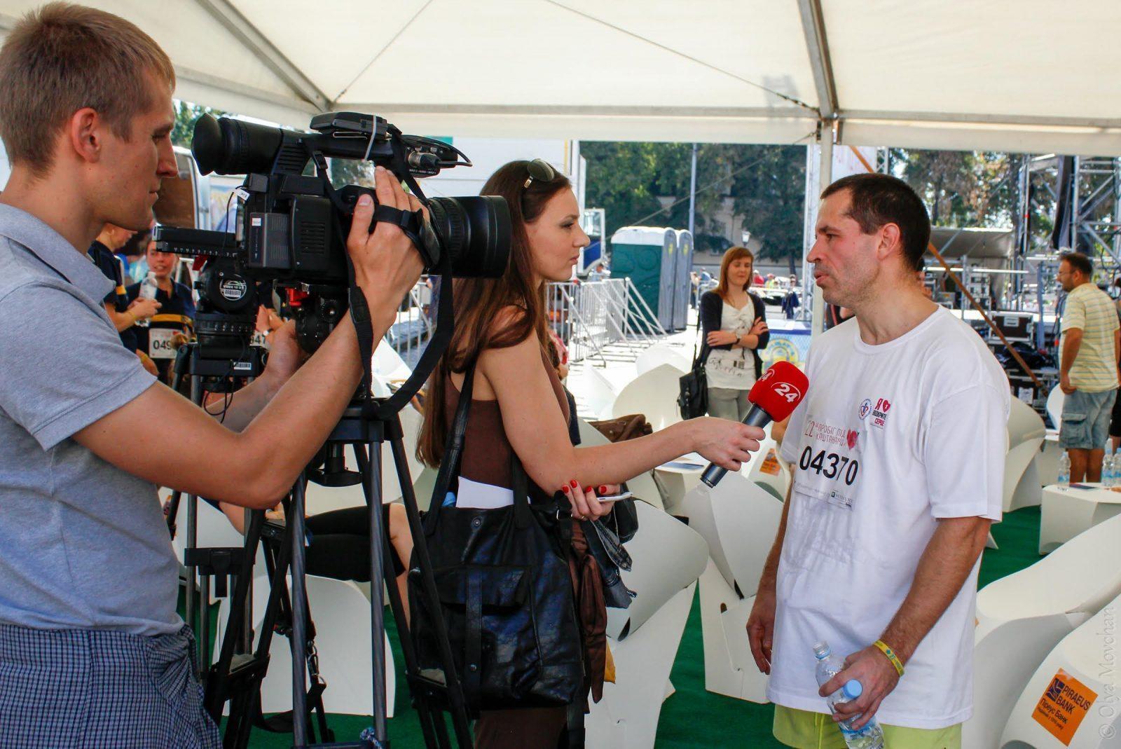 На Пробігу-2014 вперше запрацювала медіа-зона