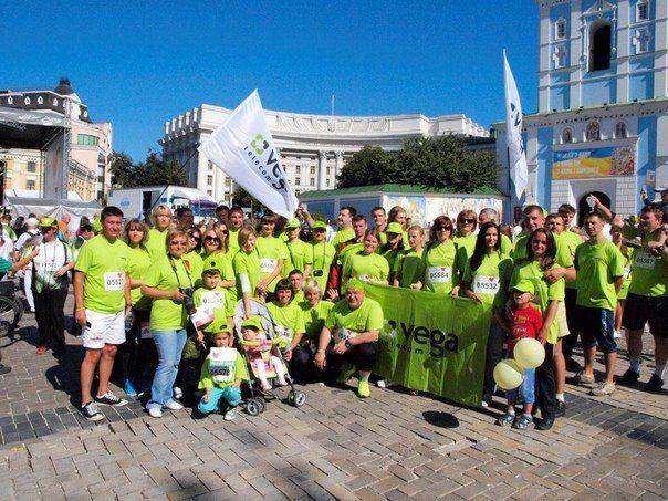 90 сотрудников Vega на старте Пробега-2014