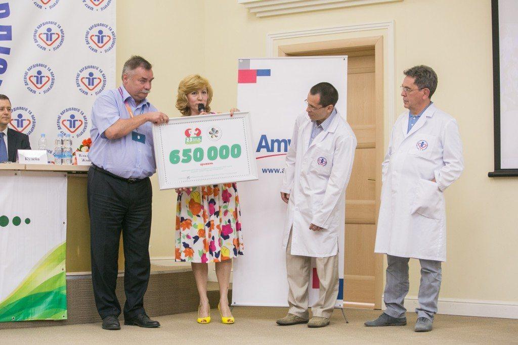 «Пробіг під каштанами – 2015» передав Центру дитячої кардіології та кардіохірургії МОЗ України 650 000 гривень - photo