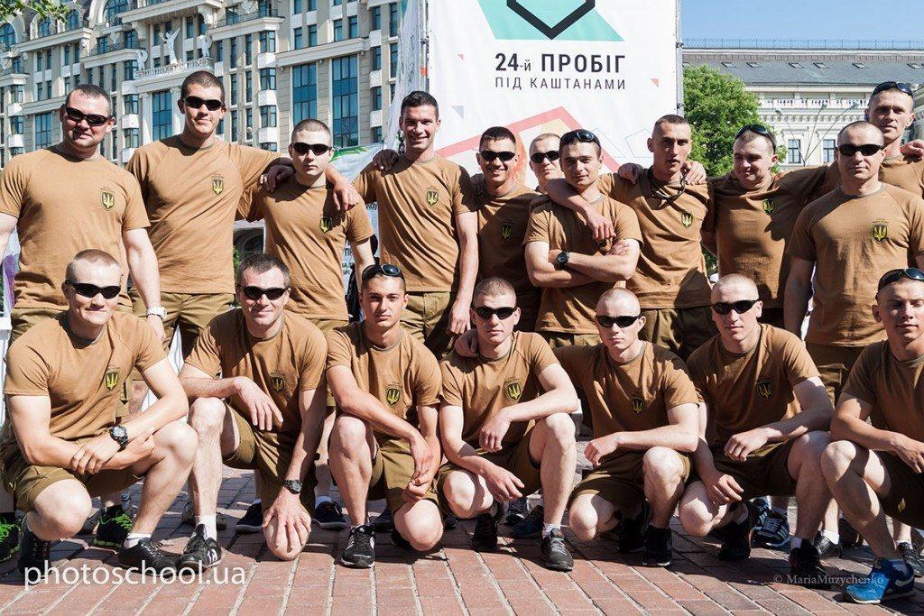 Впервые в «Пробеге под каштанами» приняла участие команда защитников Украины - photo