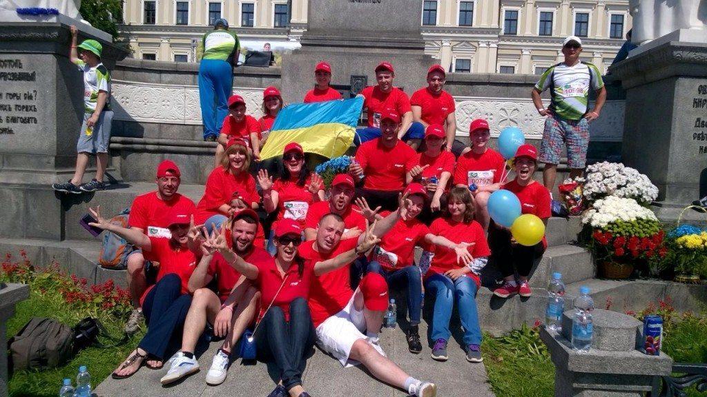 «Пробег под каштанами» – первый тимбилдинг в благотворительном проекте в Украине - photo
